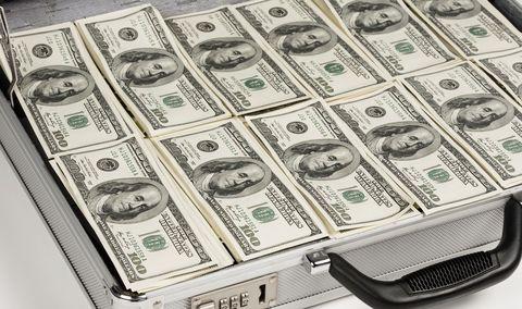 02G62804 - כסף - דולר - מזוודה - עסקים - ממון - פיננסי