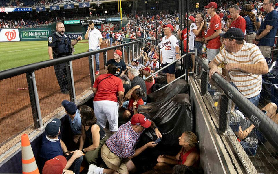 בהלה בוושינגטון: ירי מחוץ לאיצטדיון בייסבול, צילום: Brad Mills-USA TODAY Sports