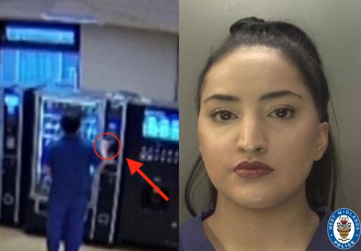 אחות גנבה כרטיס אשראי ממטופלת דקות ספורות לאחר שנפטרה כדי לקנות חטיפים. מקור: West Midlands Police